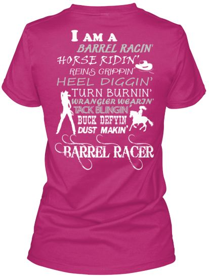 Barrel Racer Cool Tshirt to Be A Barrel Racer T Shirt Design