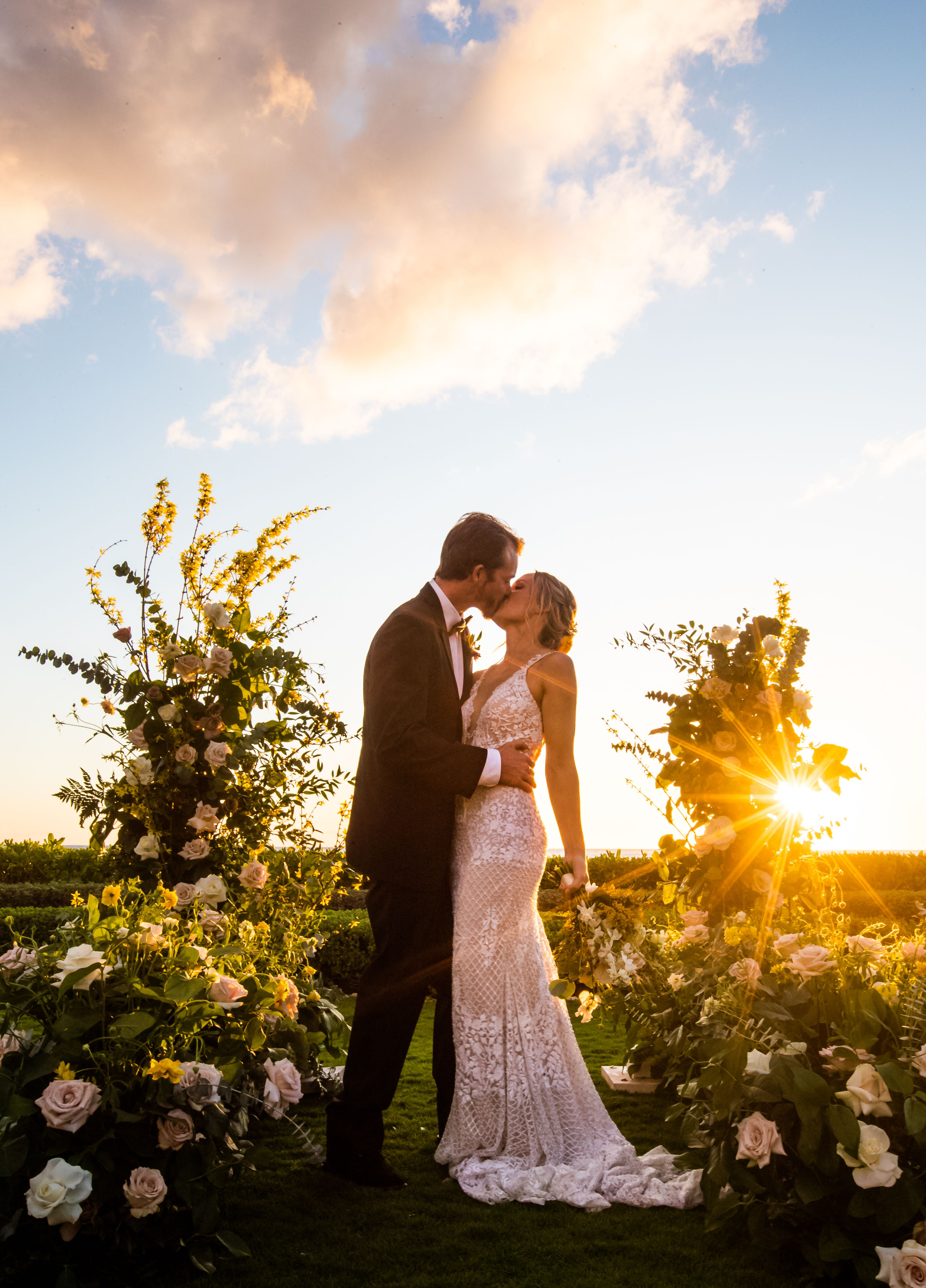 Love is in the air🙌😍 That sunset though... Photo by @connortrimble  #oahu #hawaii #wedding #styled #ceremony #hawaiilife #weddings #weddinggoals #oahulife #ceremonydecor #ceremonyflowers #luckyweliveinhawaii #weddinglook #outdoorceremony #oahuevents #bridal #dreamwedding #love #design #aloha #weddingmoments #hawaiian #weddingceremonydecor #weddinggoals #luxurywedding #weddingbells #hawaiilove #styledetails