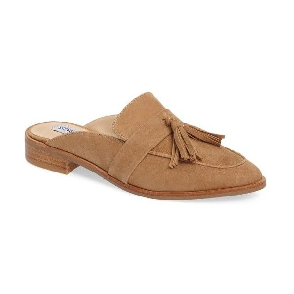 Women's Steve Madden Magan Tasseled Mule ($90) via Polyvore featuring shoes,  sand,