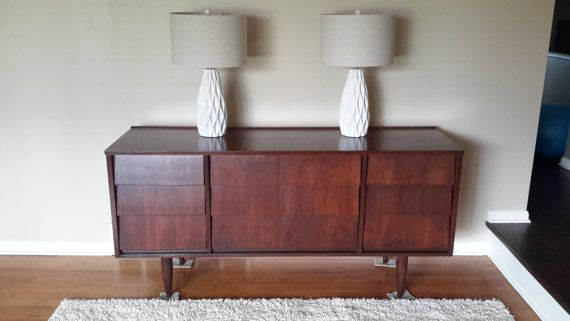 Beautiful Piece That Features Uniquely Style Louvered Drawers Tapered Legs And Raised Edge On Top Of Dresser Manufactured By The Ward Furniture Company