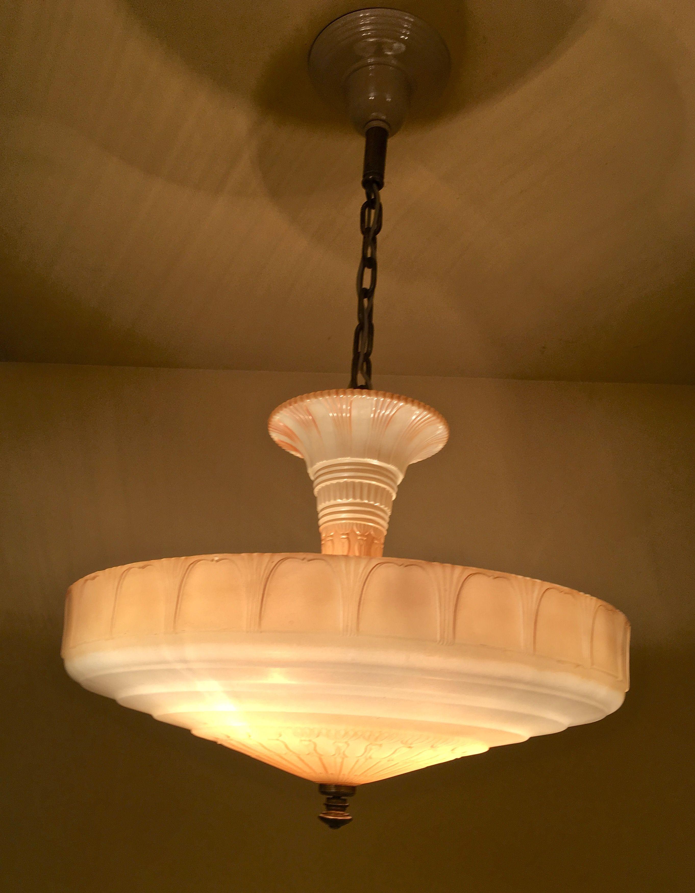 1930s Chandelier By Markel Art Deco Lighting Chandelier Antique Lighting