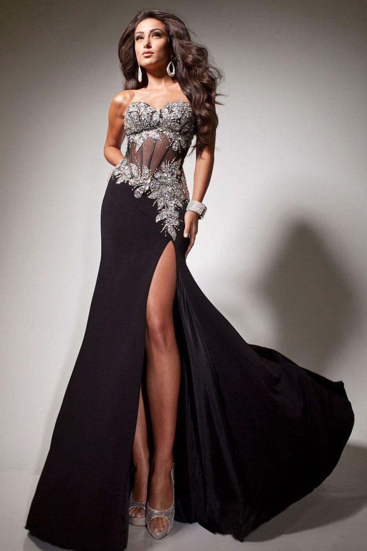Black floorlength sweetheart chiffon zipper evening dress evening