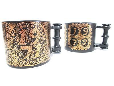 VTG Portmeirion Limited Edition Susan Ellis Pottery huge Mugs 1971 1972  England