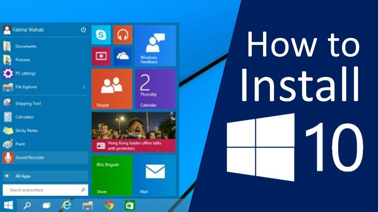 How To Download And Install Windows 10 On Pc Step By Step Windows 10 Window Installation Installation