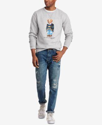 ff9b5a336b8c Polo Ralph Lauren Men s Preppy Bear Fleece Sweatshirt - Andover Heather XL