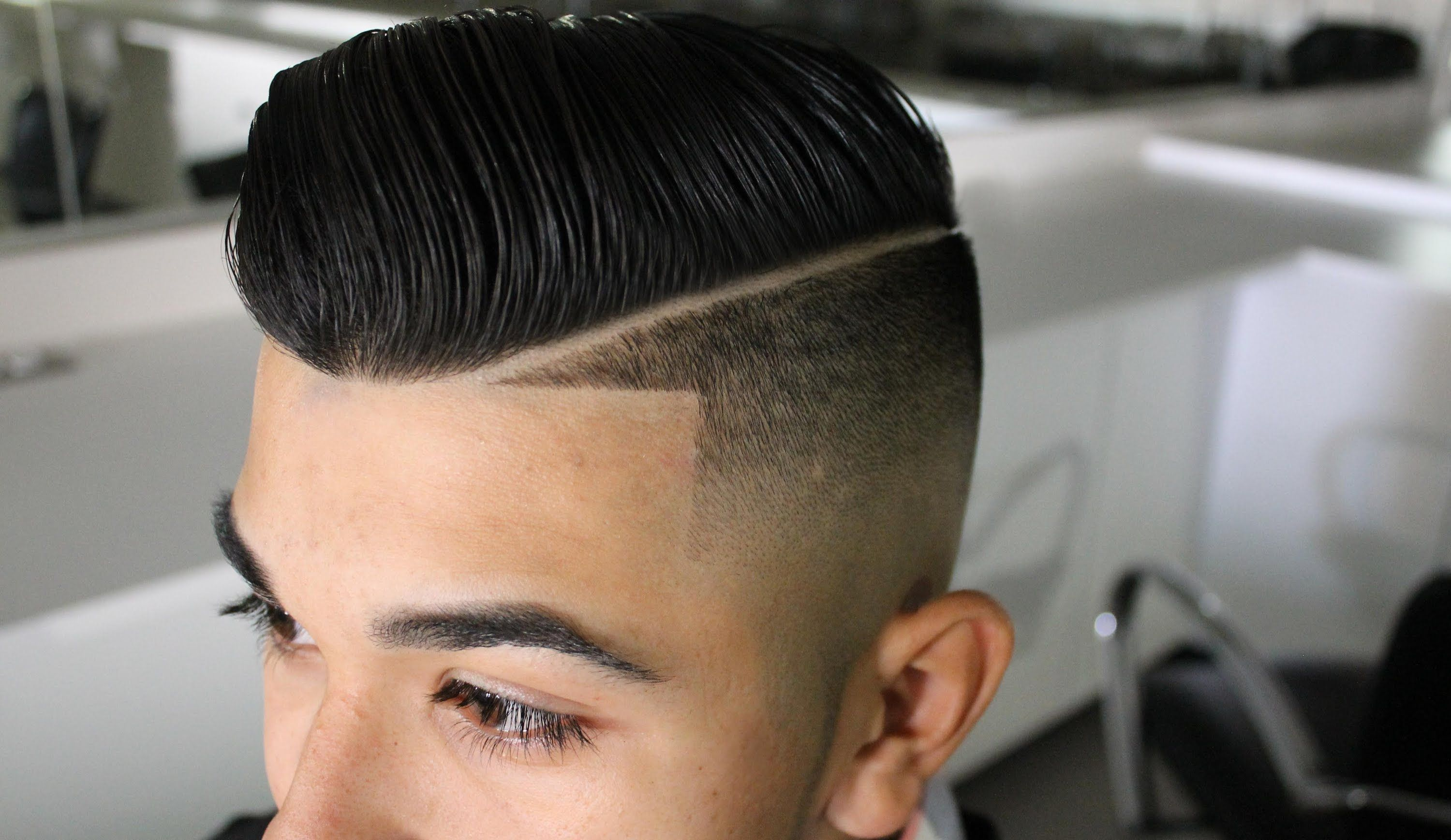 Mens haircut st louis comb over low fade  haircut tutorial  menus hairstyles  coupe