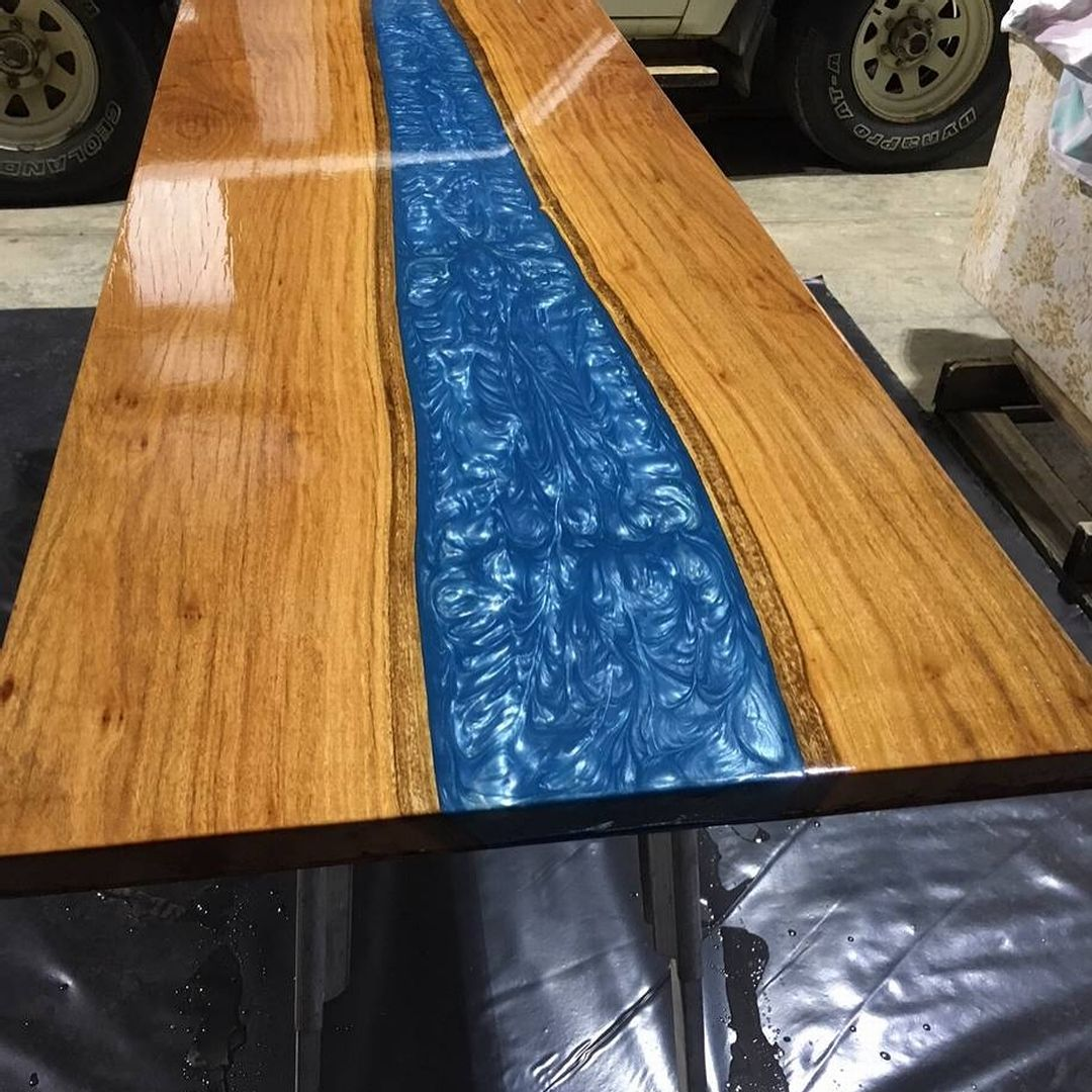 Check Out This Amazing River Table Competed By A Customer Using Stone Coat Casting Resin And Stone Coa Resin