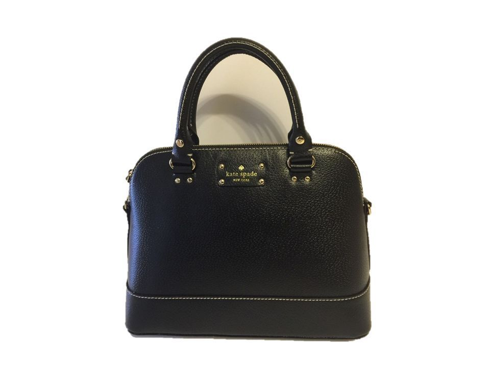 Kate Spade Wellesley Rachelle Satchel Black Bag Purse Handbag