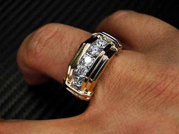 Mens Diamond Wedding Ring Gold | Wedding | Dresses | Cakes .