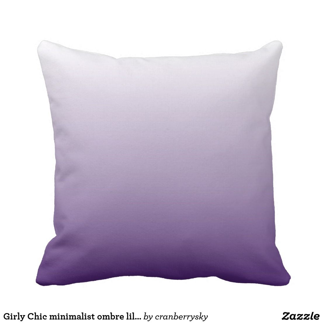 Girly Chic Minimalist Ombre Lilac Lavender Purple Throw Pillow