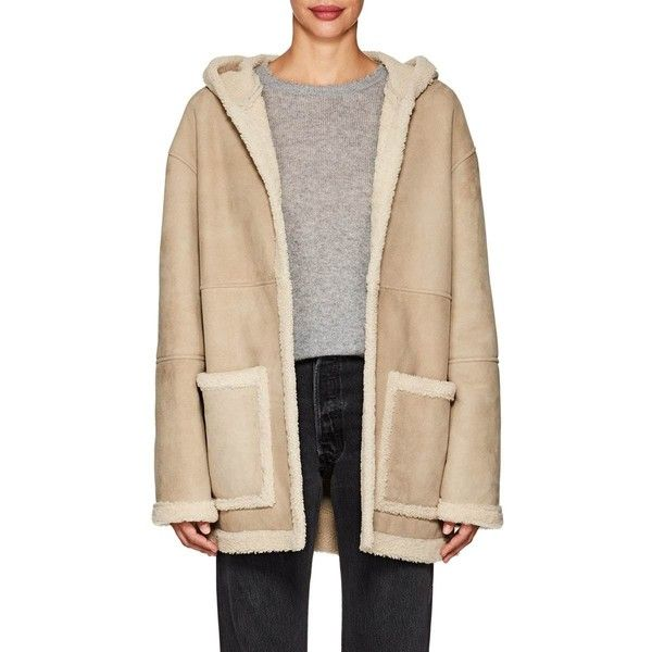4199a364e53368 Robert Rodriguez Women s Shearling-Lined Hooded Suede Coat ( 2