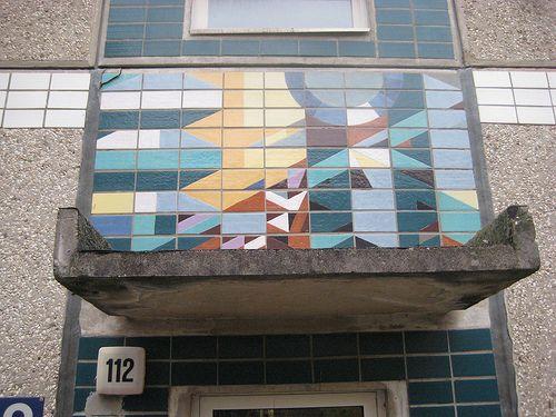 1984 Magdeburg Hauszeichen von Frank Borisch Keramik Bruno-Taut-Ring 112 in 39130 Neu-Olvenstedt