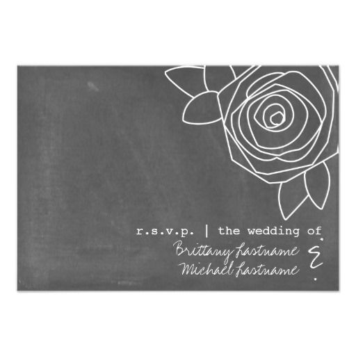 This DealsChalkboard Inspired Rose Wedding RSVP Personalized InvitesWe have the best promotion for you and if you are interested in the related item or need more information reviews from the x customer who are own of them before please follow the link to see fully reviews