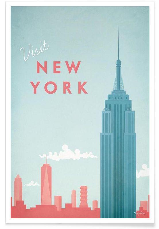 New York en Affiche premium par Henry Rivers | JUNIQE