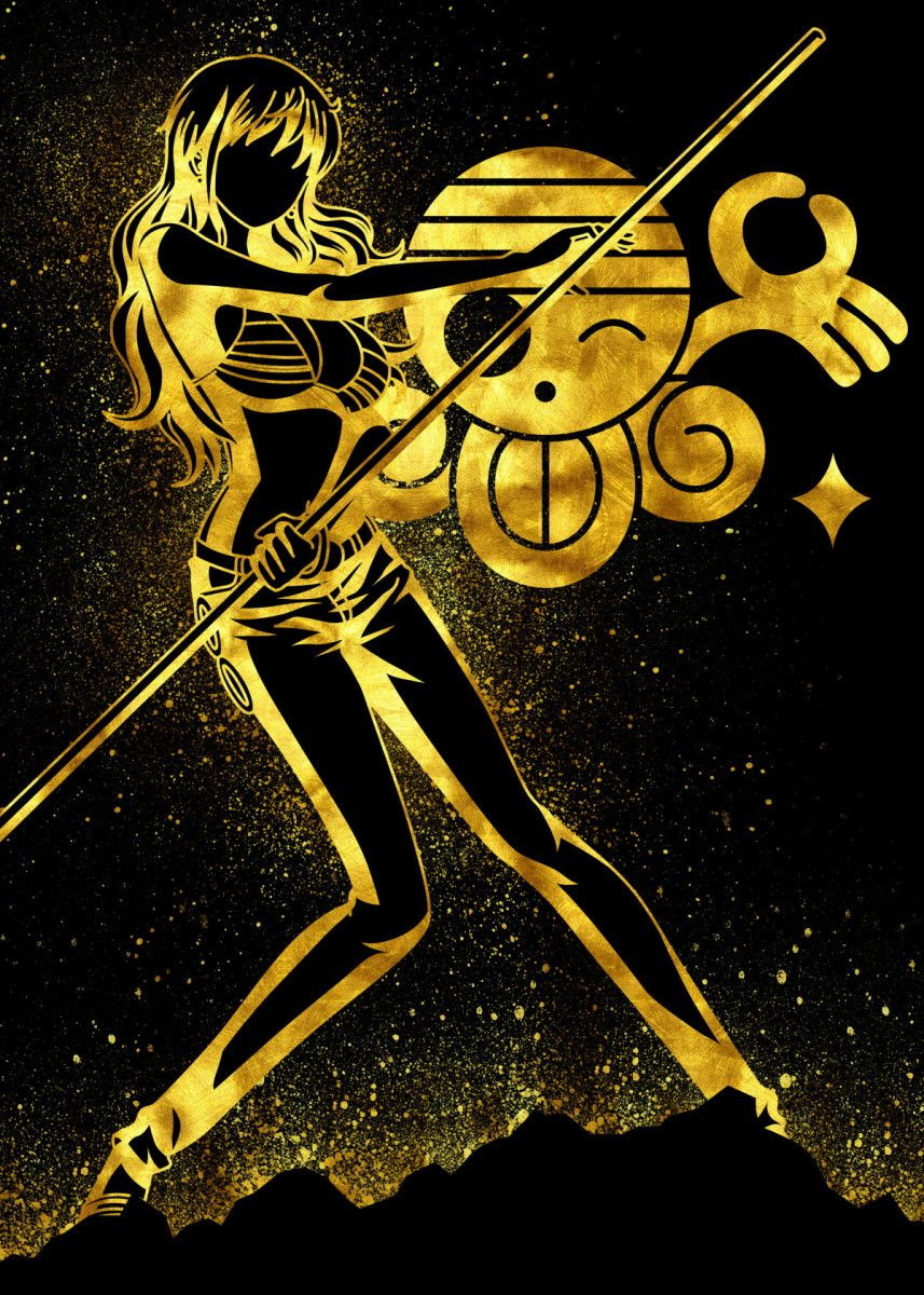 'Golden Nami' Poster Print by Eternal Art | Displate
