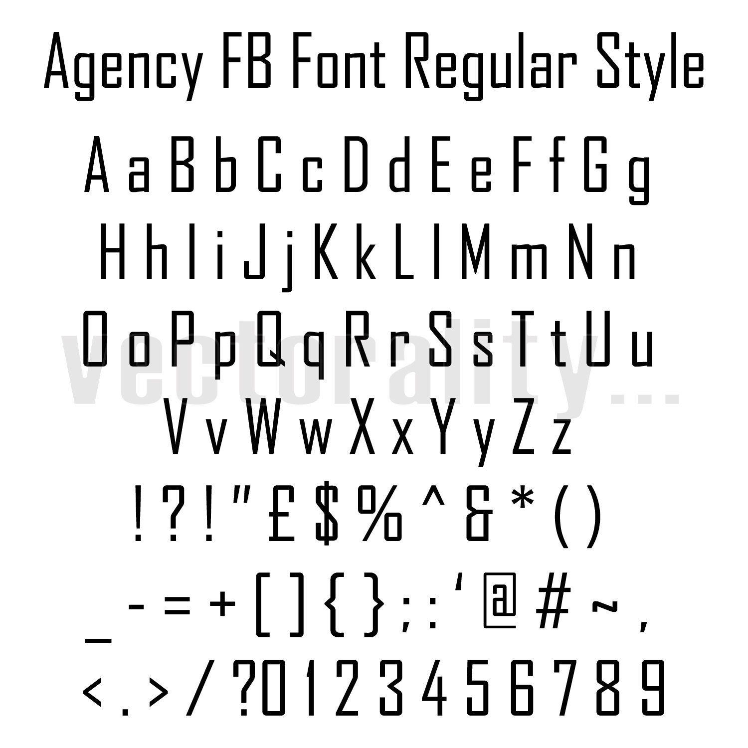 Agency Fb Font Regular Style Alphabet Numbers Letters Vector Etsy Letter Vector Writing Words Alphabet And Numbers