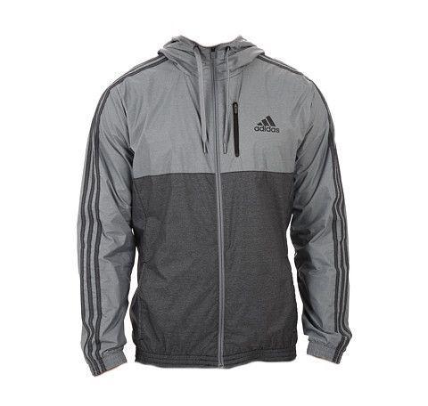 Adidas Men's Full Zip Fleece Hoodie Hooded Jacket Adidas