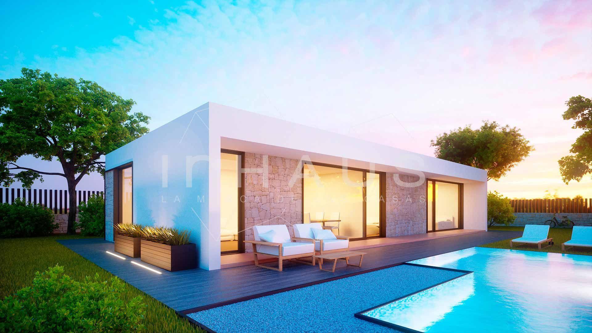 Casa prefabricada de diseño modelo Tarifa 3D 1P 2.138 (mit