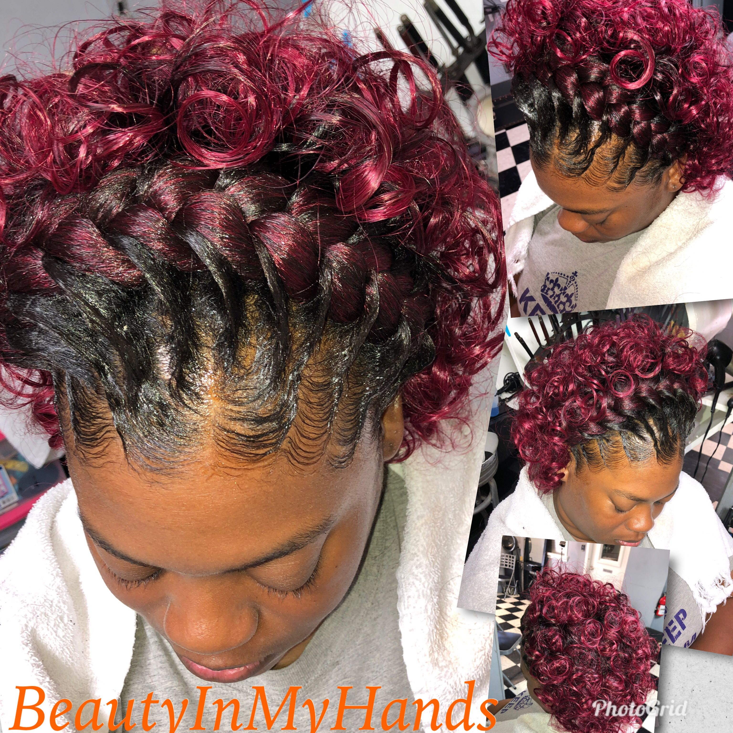 Pin By Theresa Williams On Beauty Is My Name Theresa Curly Hair Styles Easy Black Hair Updo Hairstyles Black Women Updo Hairstyles