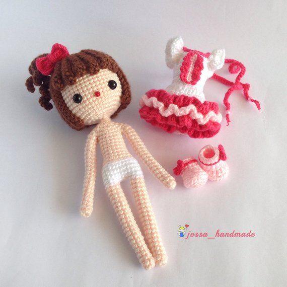Crochet Doll Pattern / Amigurumi Doll Pattern / The Little Sweety Kiki / PDF Crochet Doll Pattern / #instructionstodollpatterns