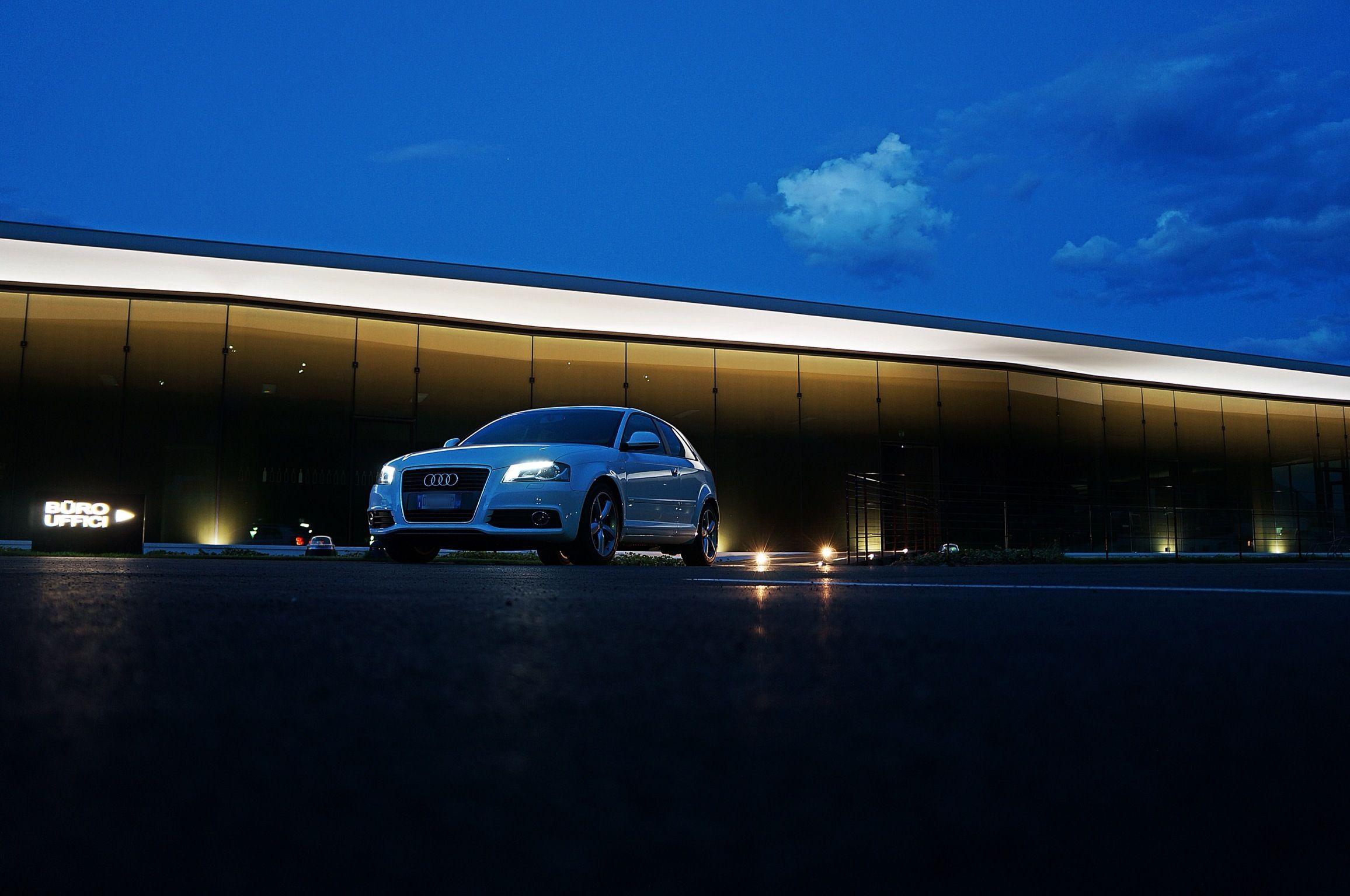 Audi A3 in the night
