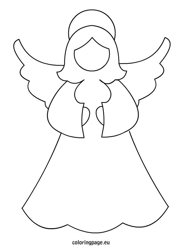 image regarding Angel Printable identify angel-template Templates Xmas templates, Xmas
