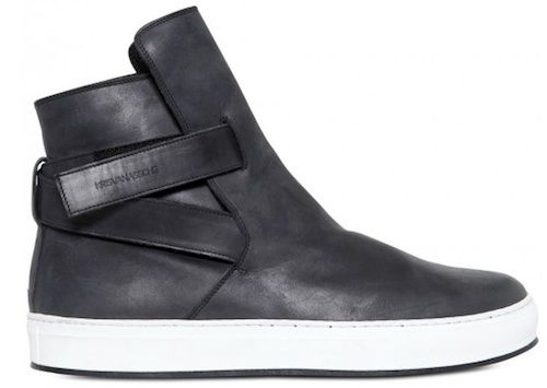 9a8d83b8df Kris-Van-Assche-belted-strap-calfskin-leather-sneakers