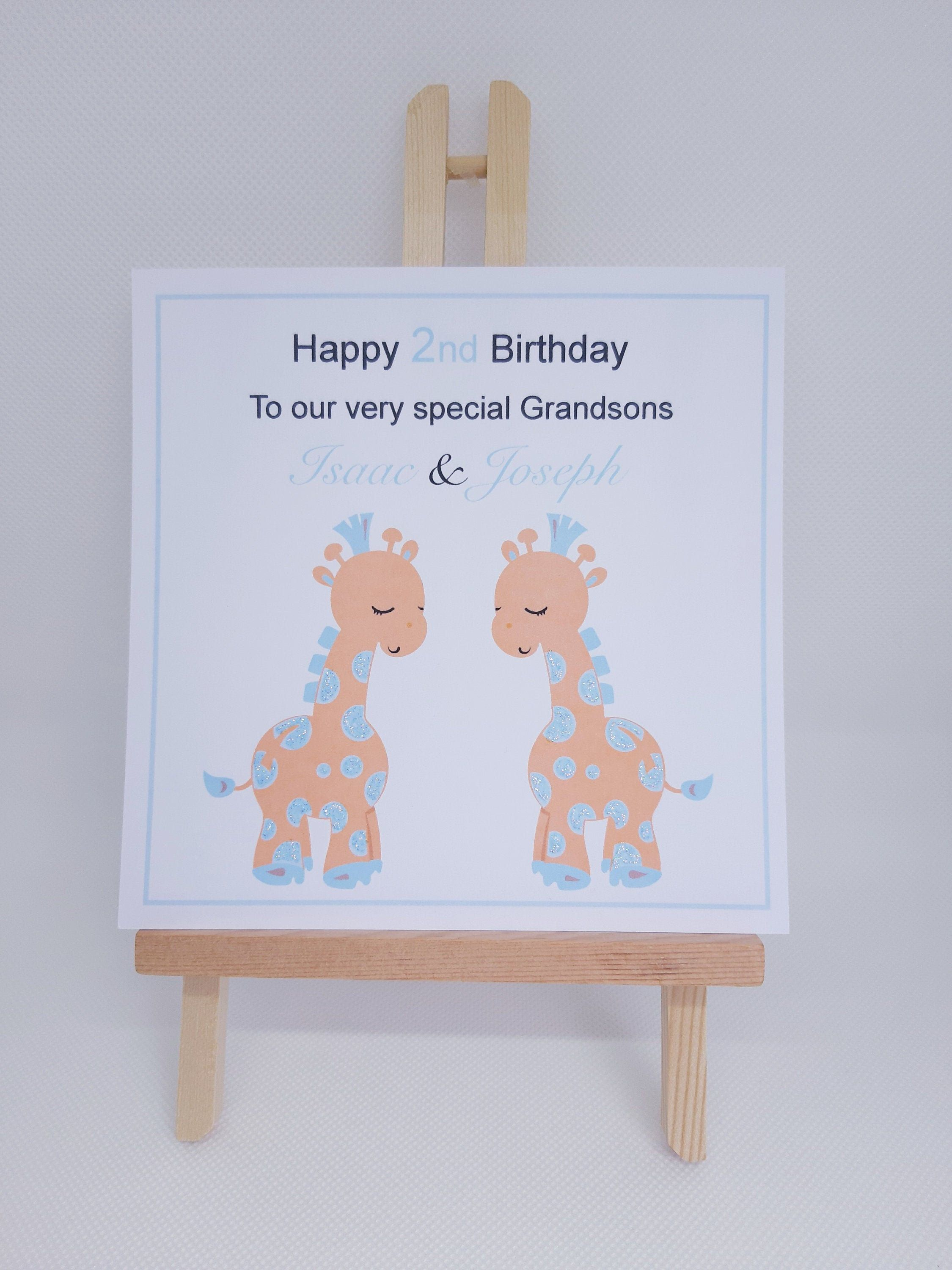 Personalised Twins Birthday Card For Boys Handmade 1st Etsy Birthday Cards For Twins 1st Birthday Cards Birthday Cards For Son