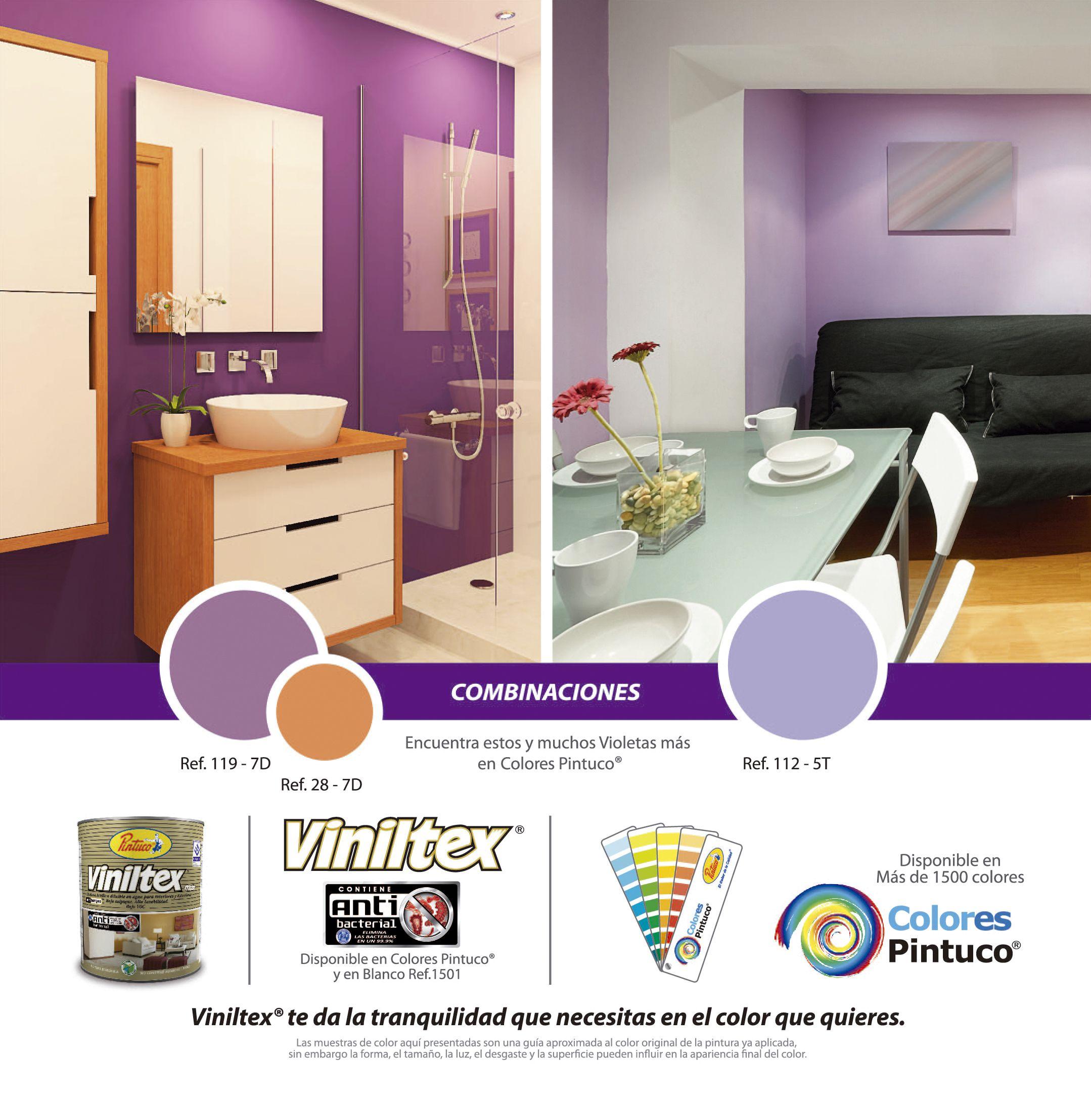 Combinaciones en colores violeta de viniltex de pintuco combinaciones 2012 pinterest - Carta de colores para interiores ...