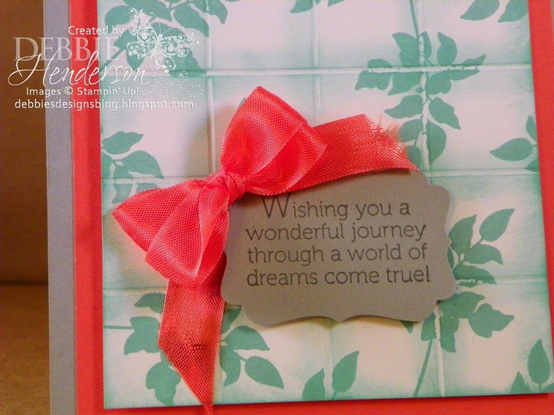 Debbie's Designs: New Video Added for the Faux Tile Technique! (nice double bow)