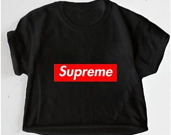 50d0526de86d2 Supreme Black Unisex Oversized Crop Top T Shirt Tee