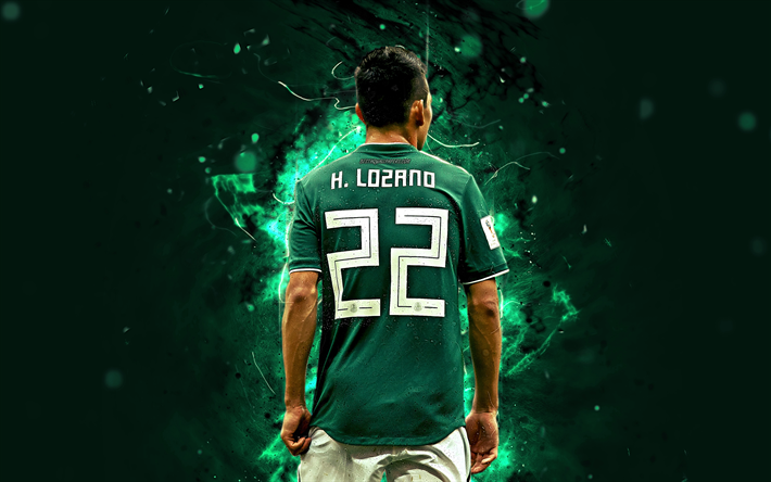 Download Wallpapers 4k Hirving Lozano Back View Mexico National Team Match Lozano Soccer Footballers Neon Lights Mexican Football Team Besthqwallpapers Mexico National Team Football Team Soccer