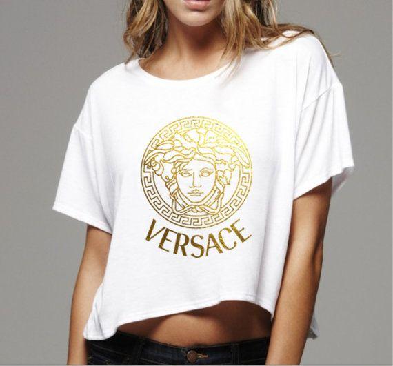 Versace Damen Top T Shirt T Shirt Shirts Tops