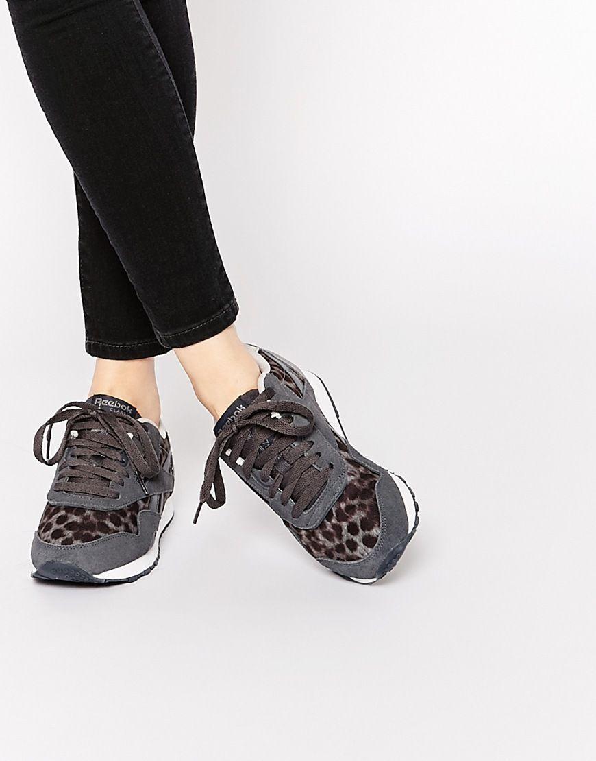 7ebfdb68543a Reebok Classic Nylon Wild Gray Sneakers