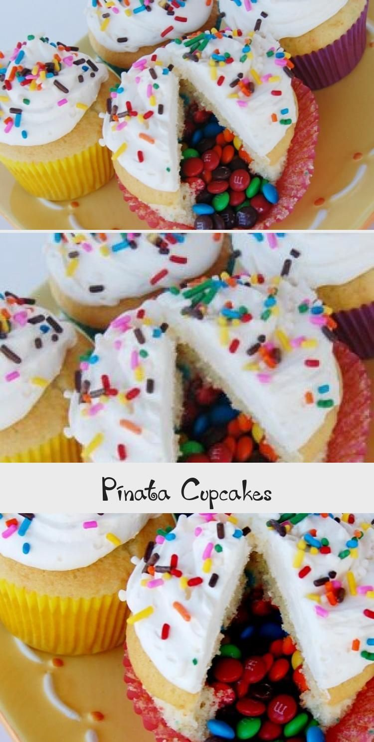 Photo of These Pinata Cupcakes are a fun dessert idea that your guests will love! They're… – Ostern