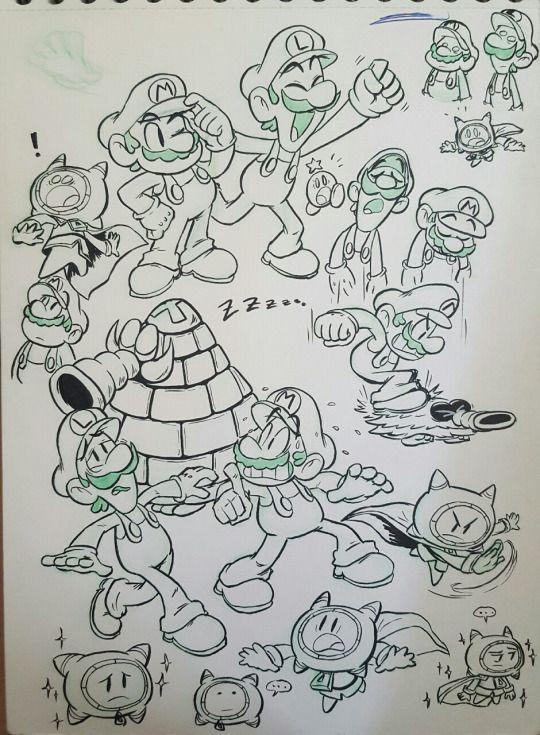 Mario And Luigi Dream Team Mario And Luigi Super Mario Art
