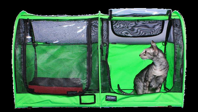 Double Show Shelter with Vinyl Doors