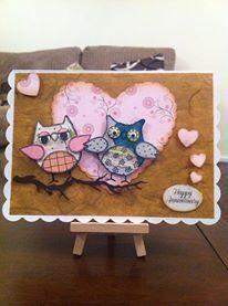 Owl - Happy Anniversary 5 x 7 card
