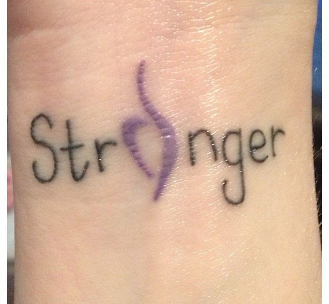 """Recovery Tattoo: """"Stronger"""" NEDA Eating Disorder Recovery Tatoo (wrist"""