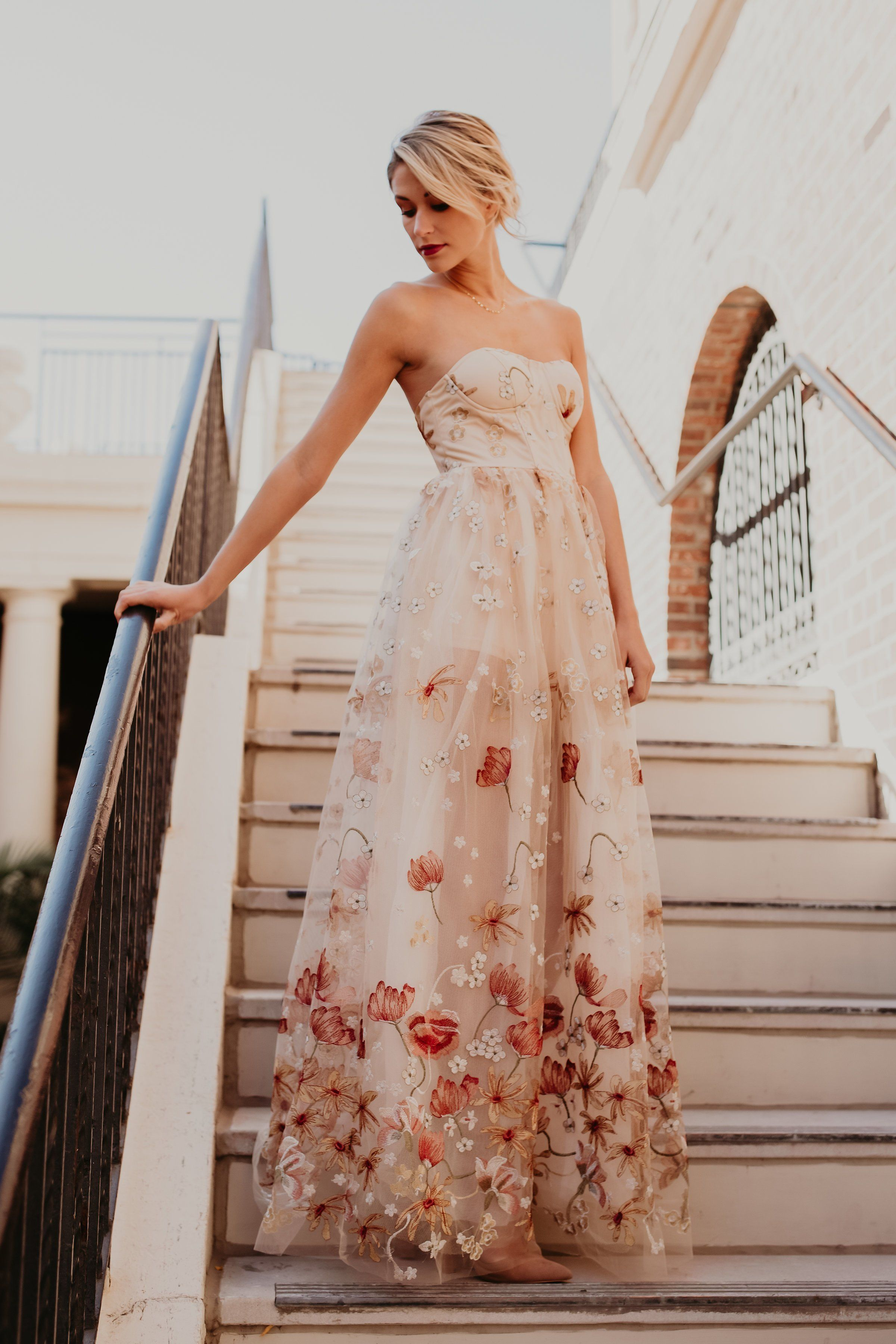 Whimsical Garden Embroidered Maxi Dress Strapless Dress Formal Dresses Embroidered Maxi Dress [ 3600 x 2400 Pixel ]