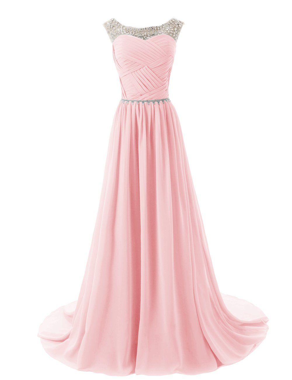 Dressystar beaded straps bridesmaid prom dresses with sparkling