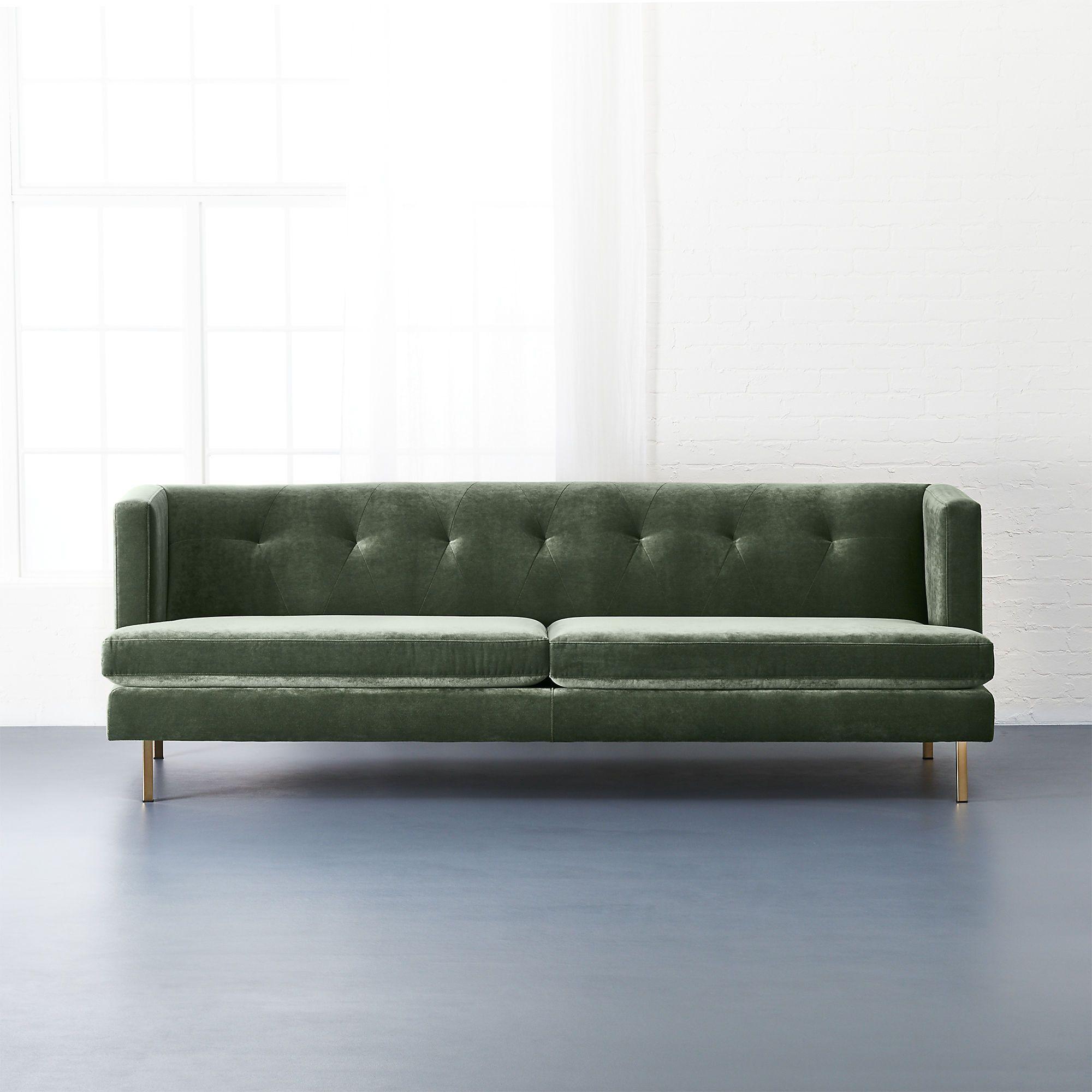 Astonishing Avec Sofa With Brass Legs Cb2 Client S Office Modern Creativecarmelina Interior Chair Design Creativecarmelinacom