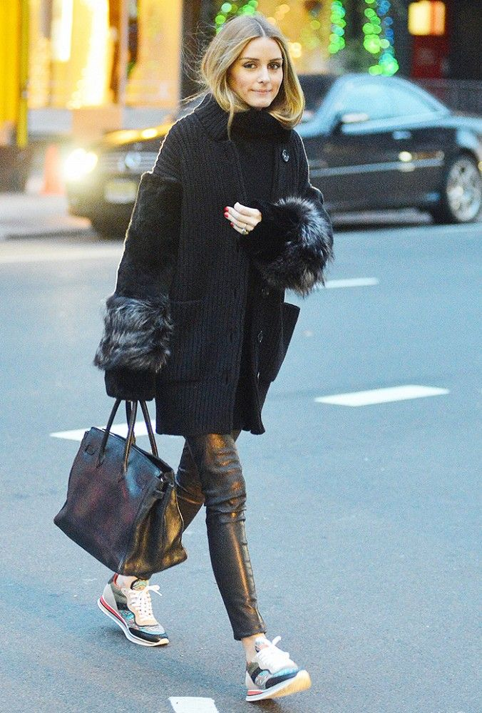 How olivia palermo keeps warm in frigid temperatures for Hermes palermo