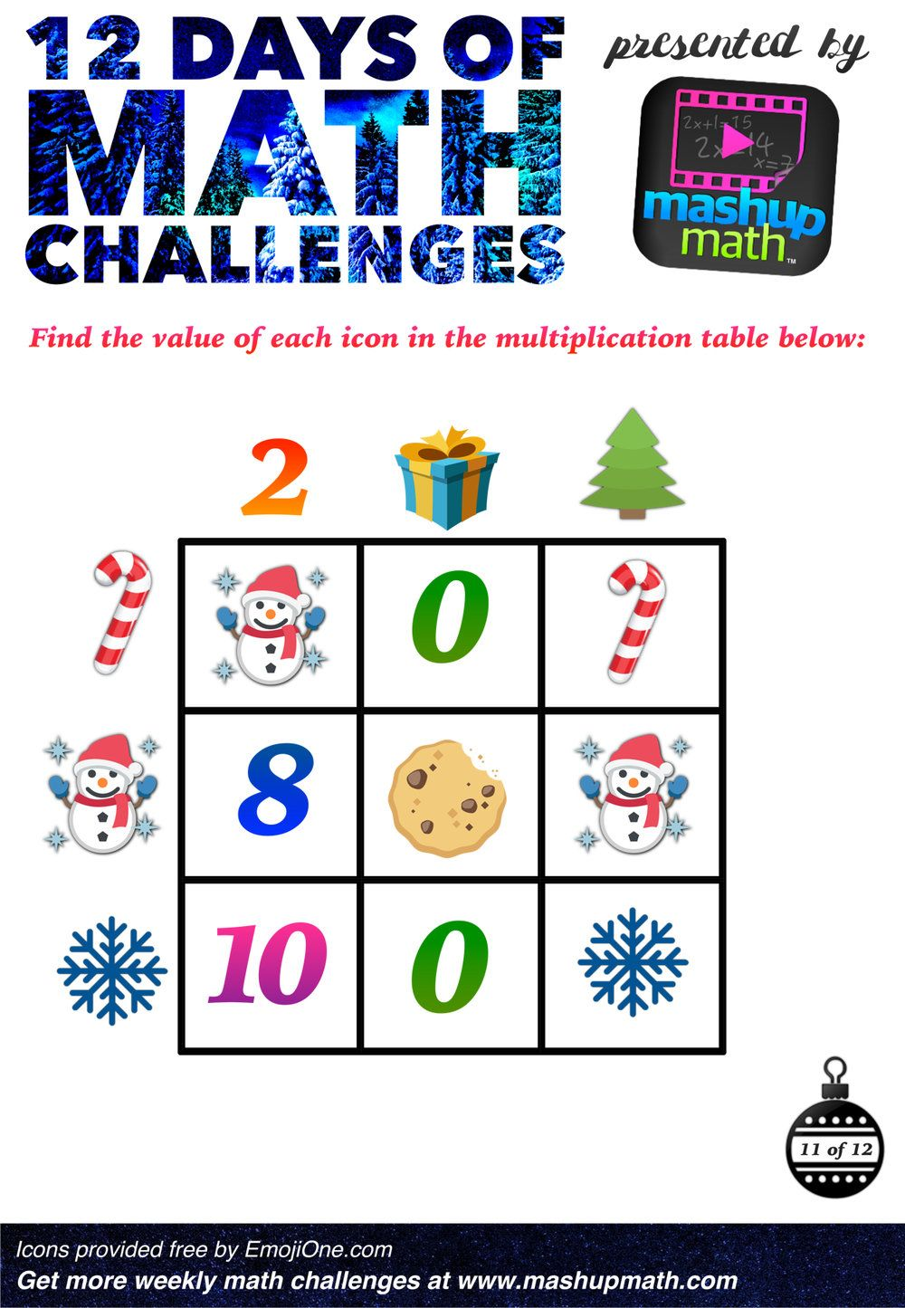 medium resolution of Are You Ready for 12 Days of Holiday Math Challenges? — Mashup Math   Math  challenge