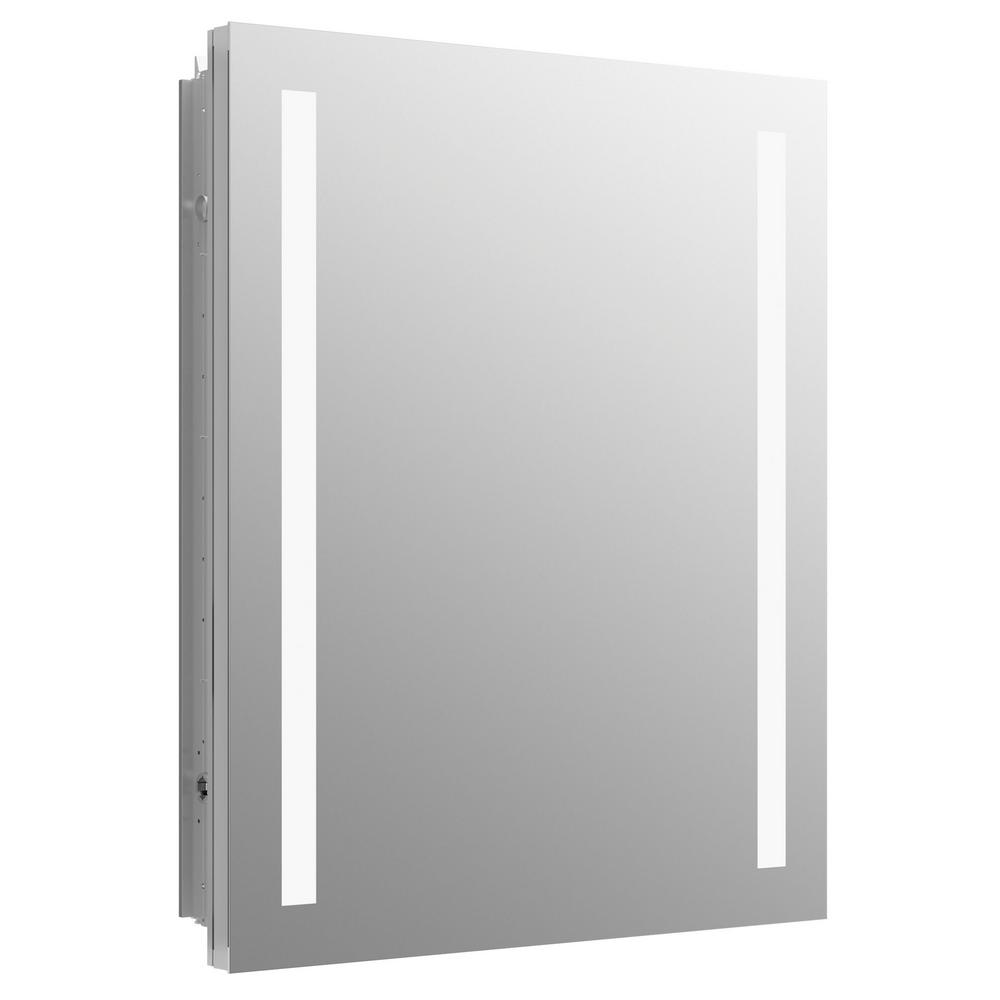 Kohler Verdera 24 In W X 30 In H Recessed Or Surface Mount Lighted Medicine Cabinet K 99007 Tl Na The Home Depot Lighted Medicine Cabinet Mirror Cabinets Recessed Medicine Cabinet