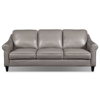 lexa genuine leather sofa u2013 taupe