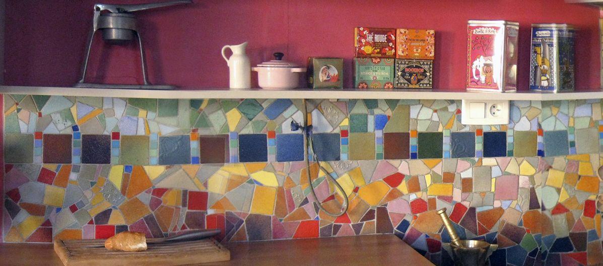 Mosaique credence mosa que pinterest for Mosaique credence cuisine
