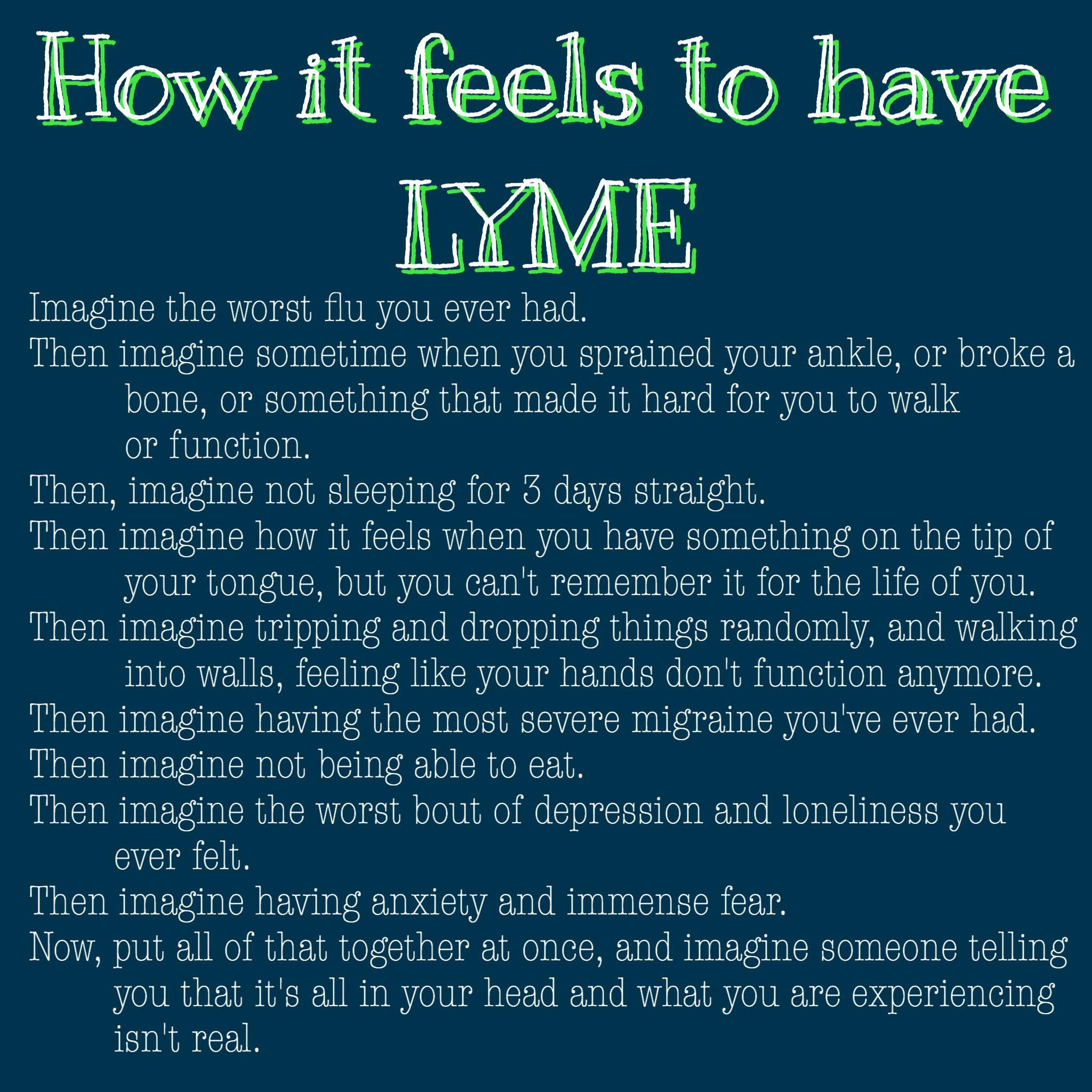 Survival Muscle - How it feels to have Lyme disease - The