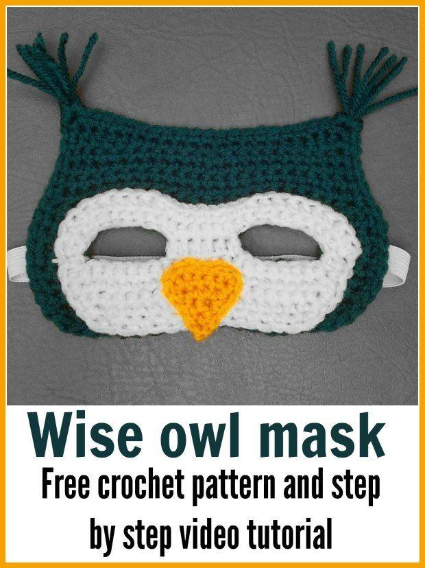 Crochet Owl Mask Free Written Pattern And Video | Pinterest