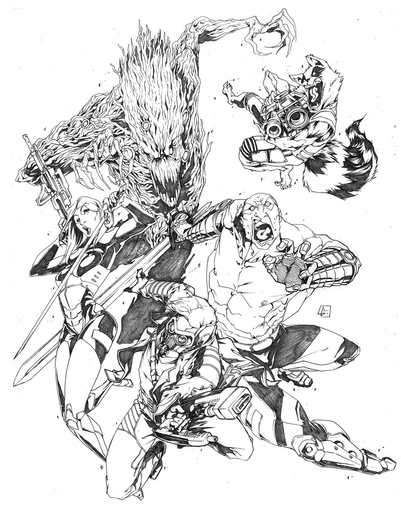 Guardians Of The Galaxy Commission By Marvelmania On Deviantart